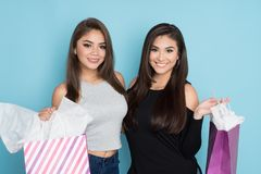 Two Teens Shopping Royalty Free Stock Photos