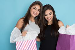 Two Teens Shopping Stock Image