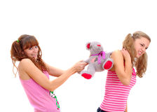 Two teenage sisters quarrelling Royalty Free Stock Photos