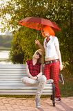 Two teenage at the summer park Royalty Free Stock Photos