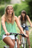 Two teenager on bike ride Stock Photo