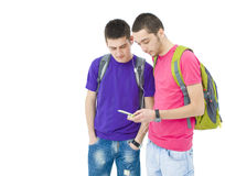Two teenager boys Stock Photo