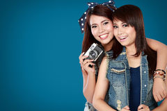 Two teenager girls Royalty Free Stock Photos