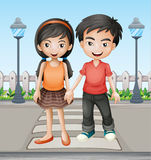 Two teenager holding hands together Royalty Free Stock Photography