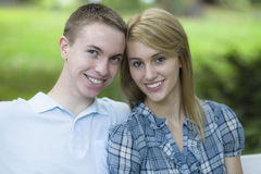 Two Teenagers Royalty Free Stock Images