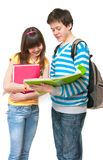 Two teenagers Royalty Free Stock Image