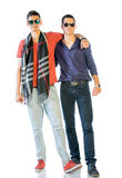 Two Teenagers In Casual Clothes Royalty Free Stock Images