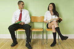 Two teenagers flirting Royalty Free Stock Image
