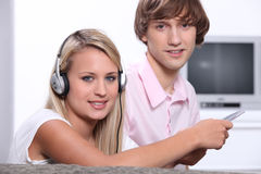 Two teenagers Royalty Free Stock Photography