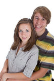 Two teenagers in love Stock Photography