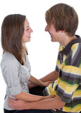 Two teenagers in love Royalty Free Stock Photos