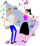 Two teens dancing Royalty Free Stock Images