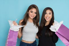 Two Teens Shopping Royalty Free Stock Images