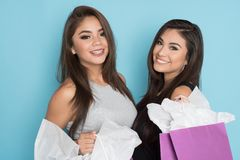 Two Teens Shopping Stock Photo