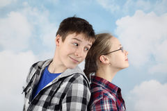 Two teens Stock Images