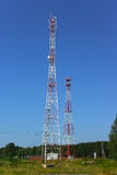 Two telecommunication towers Royalty Free Stock Photo