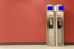 Two telephone booths Royalty Free Stock Images