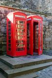 Two telephone booths in Edinburgh. Scotland Royalty Free Stock Photos
