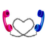 Two telephone handsets Royalty Free Stock Image