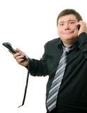 Two telephones Stock Image