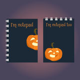 Two templates of notebook or sketchbook cover. Stock Photos