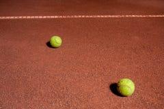 Two tennis ball Royalty Free Stock Photos
