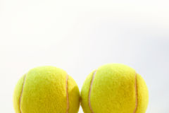 Two tennis balls Royalty Free Stock Images