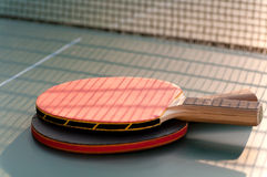 Two tennis racket on the table Royalty Free Stock Photos
