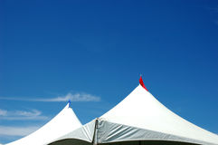 Two tents. Two shelters and a blue sky Stock Photos