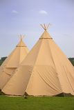 Two Tepee Stock Image