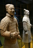 Two terracotta soldiers from C. Two Chinese terracotta soldiers were built in a line Royalty Free Stock Photo