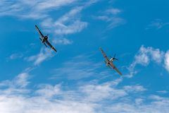 Two AT-6 Texan Bank Royalty Free Stock Images