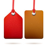 Two textured tags Stock Photo