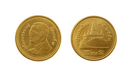 Two Thai baht coin Stock Photo