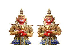 Two thai giant isolated Stock Photo