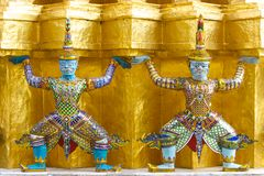 Two Thai giant statue Stock Photo