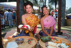 Two Thai women Stock Photo