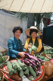 Two Thai women selling vegetables Royalty Free Stock Photo