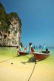 Two thai wooden boat Royalty Free Stock Photos