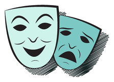 Two theater masks Stock Images