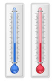 Two thermometers in glosst style Royalty Free Stock Photos