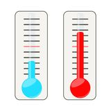 Two thermometers. Royalty Free Stock Photo