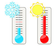 Two thermometers. Stock Image