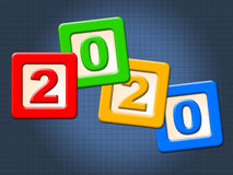Two Thosand Twenty Shows Happy New Year And Annual Royalty Free Stock Photography
