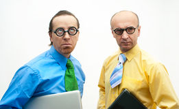 Thoughtful businessmen Royalty Free Stock Images