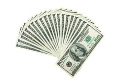 Two thousand dollars. Isolated on the white background Stock Photos