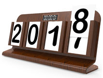 Two Thousand Eighteen Means Annual Festive 2018 3d Rendering. Two Thousand Eighteen Showing Happy New Year 2018 3d Rendering Stock Photo