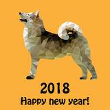 Two thousand and eighteenth year of the yellow dog. Vector illustration for the new two thousand and eighteenth year of the yellow dog on the Chinese calendar Stock Photography