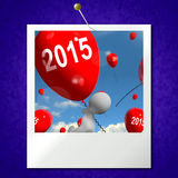 Two Thousand Fifteen on Balloons Photo Shows Year 2015 Royalty Free Stock Images