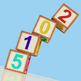 Two Thousand And Fifteen Blocks Show Year 2015 Stock Photo